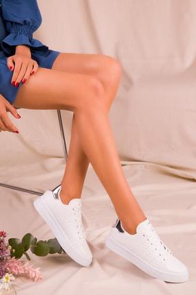 Soho Exclusive Beyaz Gumus Kadın  Sneaker 1