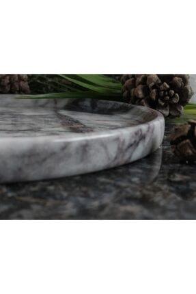 Pergamon Lilac (Leylak) Mermeri Dekoratif Veya Sunum Tabağı Gerçek Mermer 3