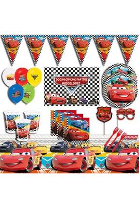 Şimşek Mcqueen Arabalar Afişli 40 Kişilik Doğum Günü Parti Malzemeleri Seti pkacars0005