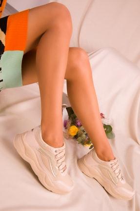 Bej Kadın Sneaker 15949 resmi