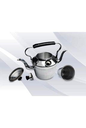 EARABUL Alüminyum Kamp Çaydanlığı - Süzgeçli Demlik - 2 Si 1 Arada Çift Taraflı Çaydanlık Seti 0