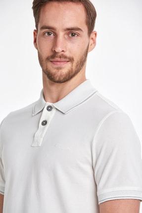 Hemington Vintage Görünümlü Beyaz Polo Yaka T-shirt 3