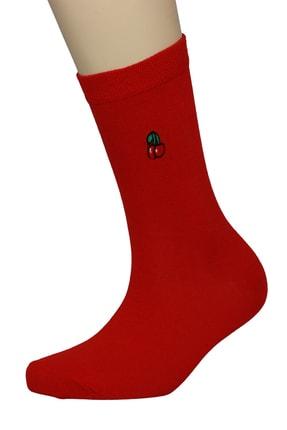 FandD 6'lı Meyveler Nakışlı Renkli Çorap 1