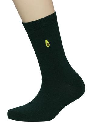 FandD 6'lı Meyveler Nakışlı Renkli Çorap 3