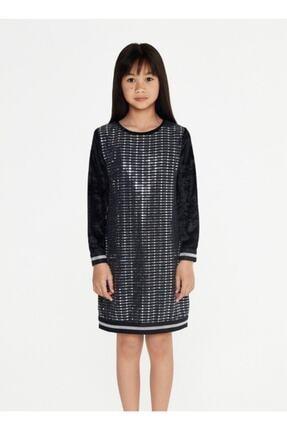 Siyah Payetli Elbise KRK67895