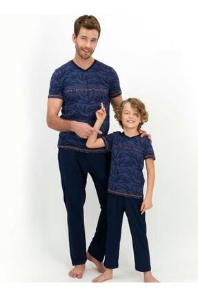 تصویر از 1353 Erkek Çocuk Lacivert Pijama Takımı