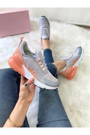 ELSESHOES Kadın Grı Pudra Spor Ayakkabı 0