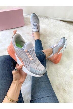 ELSESHOES Kadın Grı Pudra Spor Ayakkabı 2