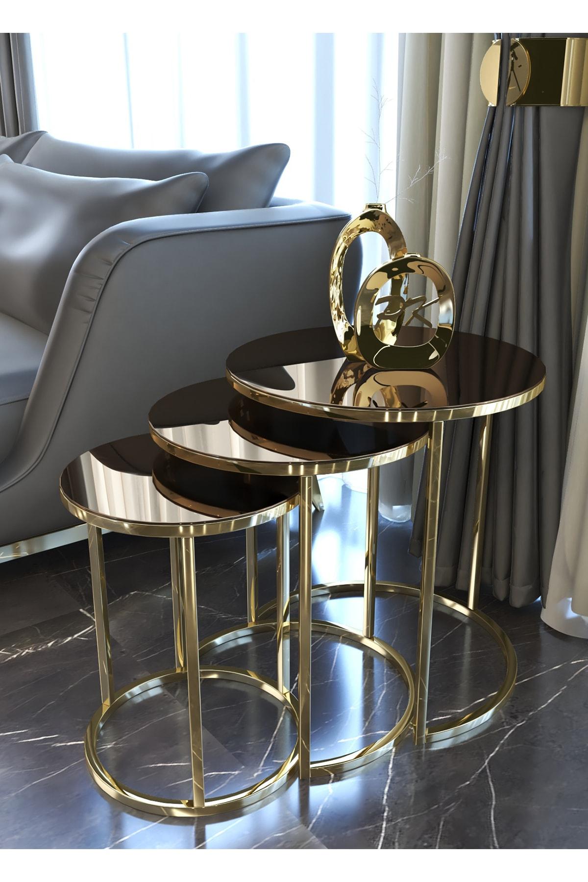 Pukka Sehpa Gold Zigon Sehpa (Bronz Aynalı)