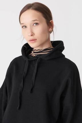 Addax Kadın Siyah Kapüşonlu Sweatshirt S0519 - P10V1 Adx-0000014040 2