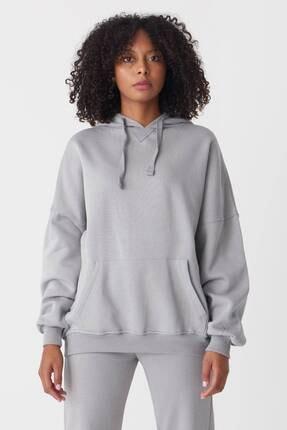 Addax Kadın Gri Kapüşonlu Sweatshirt S0519 - P10V1 Adx-0000014040 3