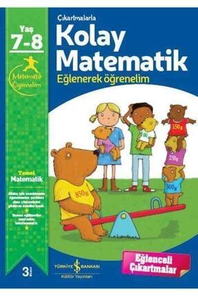 İş Bankası Kültür Yayınları Çıkartmalarla Kolay Matematik 7-8 Yaş 0