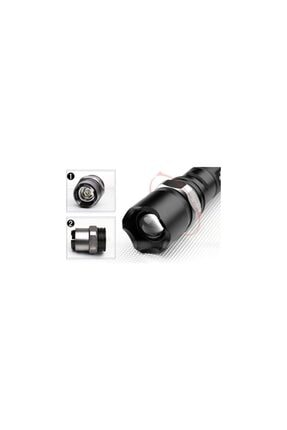 yopigo Km-110 Profesyonel Şarjlı El Feneri Ledli+flashlight+zoom Özellikli 6 Parça Full Set 2