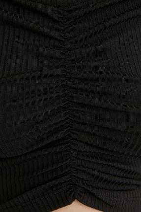 TRENDYOLMİLLA Siyah Carmen Yaka Örme Bluz TWOSS21BZ0908 2