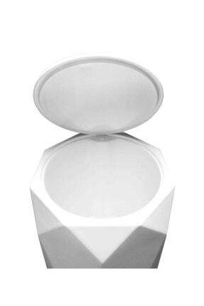 Elif Beya Plastik 5 l Çöp Kovası ve Tuvalet Fırçası Geo 2'li Banyo Seti 4