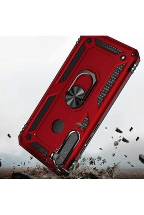 Teknoçeri Xiaomi Redmi  Uyumlu Note 8Yüzüklü Standlı Military Ring Holder Kılıf 1