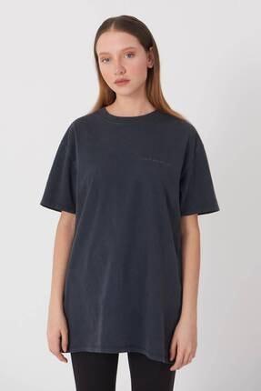 Addax Yazı Detaylı T-shirt P9519 - J5 0