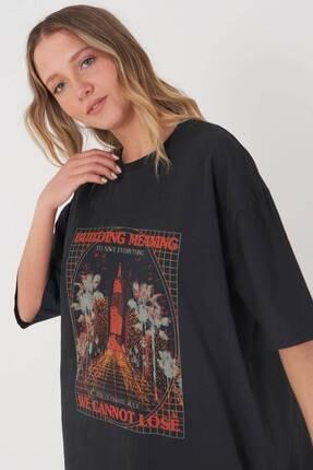 Addax Baskılı T-shirt P9528 - R13 2