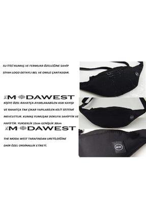 The Moda West Unisex Siyah Su Geçirmez Kumaş Özellikli Bel Ve Omuz Çantası 4