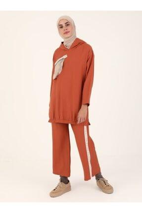 Loreen Kadın Kiremit Tunik Pantolon 2'li Takım 3