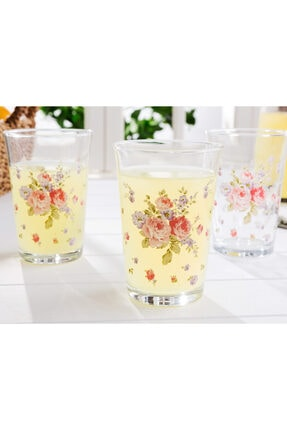Madame Coco Alicia 3'lü Su Bardağı Seti 200 ml 1