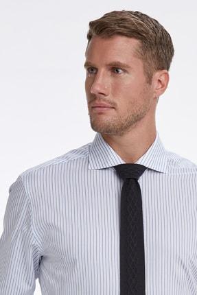 Hemington Mavi Beyaz Çizgili Business Gömlek 4