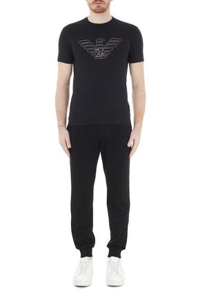 Emporio Armani Erkek Siyah Logo Baskılı Bisiklet Yaka Pamuklu T Shirt 3k1tca 1j11z 0999 4