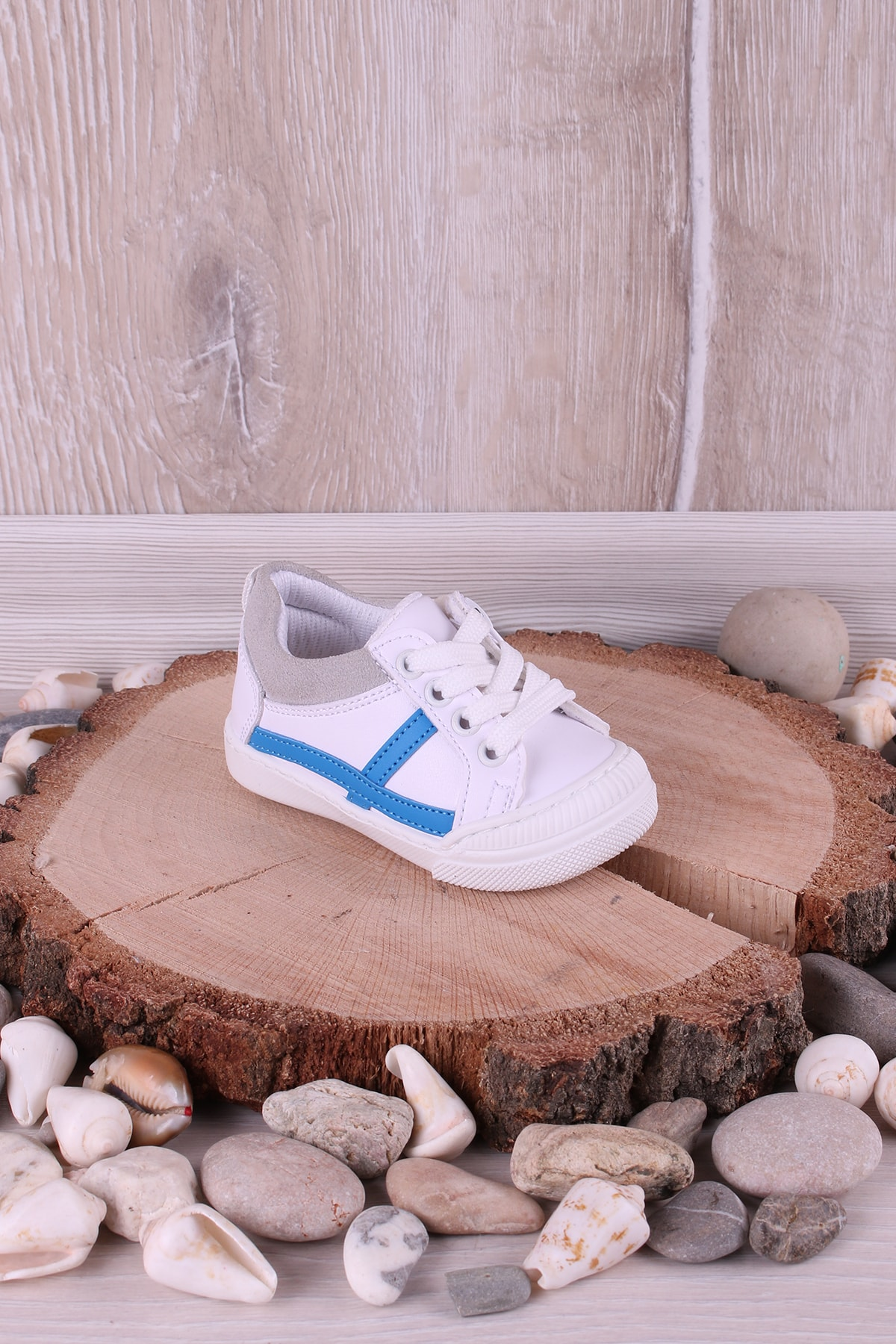 Bebek Beyaz Ortopedik Fermuarlı İlk Adım Unisex İlk Adım Ayakkabısı