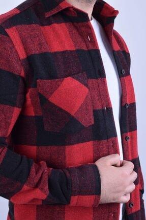 Otto Moda Erkek Kırmızı Oduncu Gömlek 1