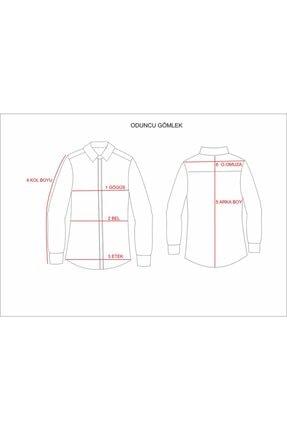 Otto Moda Erkek Kırmızı Oduncu Gömlek 4