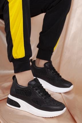 Daxtors Kadın Siyah Günlük Ortopedik Sneaker Ayakkabı D1022 2