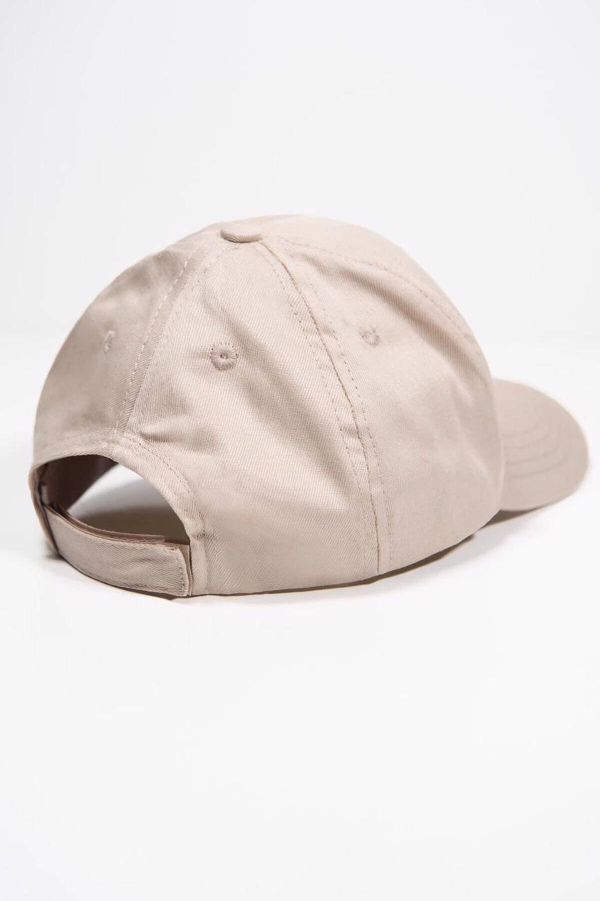 Addax Kadın Bej Unisex Şapka Şpk1007 - F1 Adx-0000022027 4