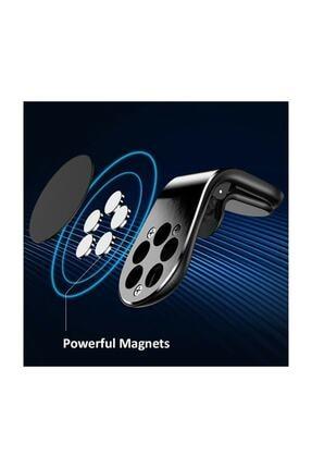 Etech Polygold Mıknatıslı Siyah Araç Içi Telefon Tutucu 1