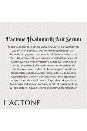 L'ACTONE Hyalunorik Asit Serum 30 Ml + Yeşim Taşı Jade Roller Yüz Masaj Aleti 4