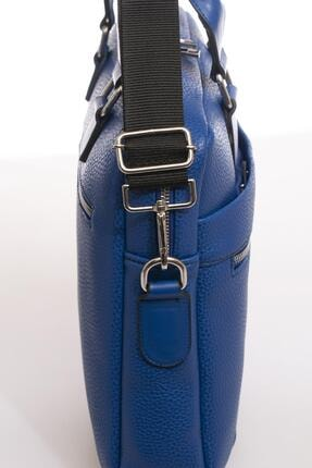 Sergio Giorgianni Luxury Mpist9141 Belinda Mavi Unısex Evrak Çantası 4