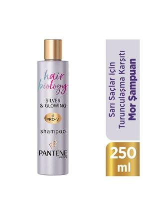 Pantene Hair Biology Turunculaşma Karşıtı Silver/ Mor Şampuan, Sarı Saçlar İçin, 250 ml 0