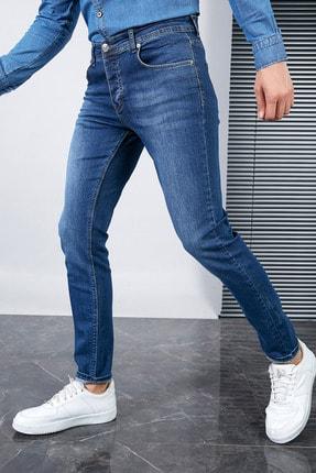 Sateen Men Erkek Lacivert Slimfit Denim Pantolon 1