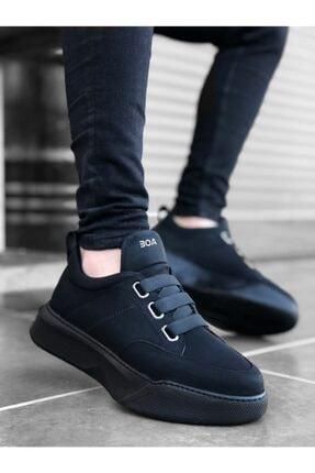 Erbilden Erkek Yüksek Taban Siyah Spor Ayakkabı 0