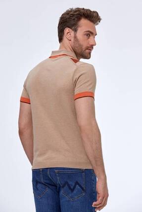 Hemington Erkek Bej Baklava Desen  Triko Polo T-shirt 2