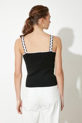 TRENDYOLMİLLA Siyah Askılı Triko Bluz TWOSS21BZ0107 4