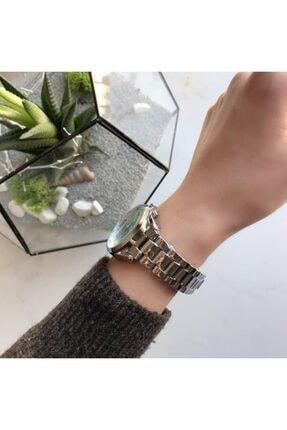 OQQO Kadran Tasarımlı Metal Gümüş Kadın Kol Saati 1