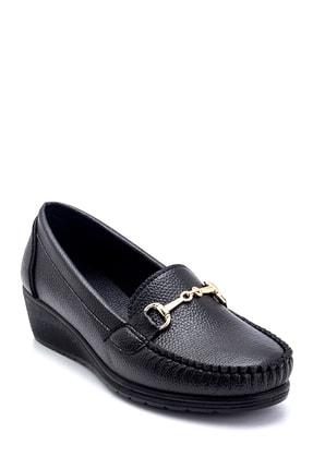 Derimod Kadın Siyah Dolgu Topuklu Loafer Ayakkabı 1