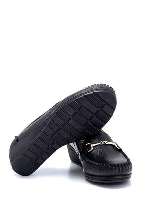 Derimod Kadın Siyah Dolgu Topuklu Loafer Ayakkabı 2