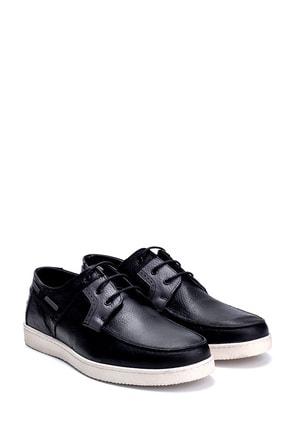 Derimod Erkek Siyah Deri Casual Ayakkabı 2