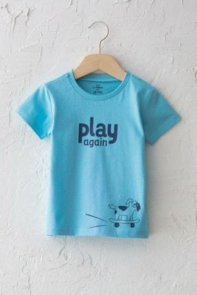 LC Waikiki Erkek Bebek Mavi G0P T-Shirt 0