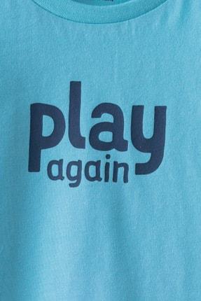 LC Waikiki Erkek Bebek Mavi G0P T-Shirt 2