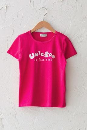 LC Waikiki Kız Çocuk Neon Fuşya Hxs T-Shirt 0