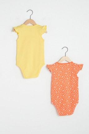 LC Waikiki Kız Bebek Pastel Sarı Fxd Bebek Body & Zıbın 1