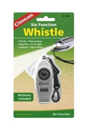 Coughlans Altı Fonksiyonlu Beyaz Düdük (Led Işık, Pusula, Büyüteç, Termometre,Kordon klips ve Sinyal Ayna) 1
