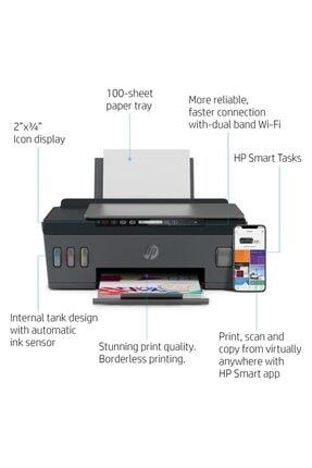 HP Smart Tank Wireless 515 Fotokopi + Tarayıcı + Wi-Fi + AirPrint Renkli Tanklı Yazıcı 1TJ09A 2